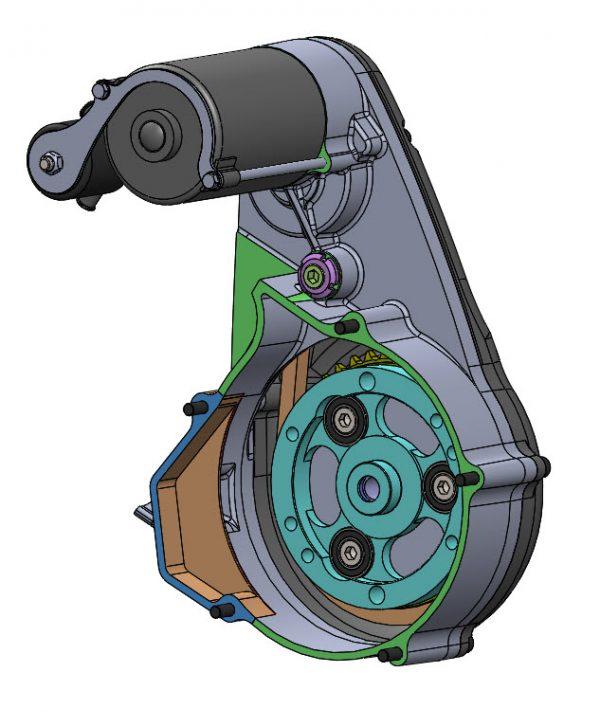 Kit démarreur SR400EFI - Nuts and Bolts Development